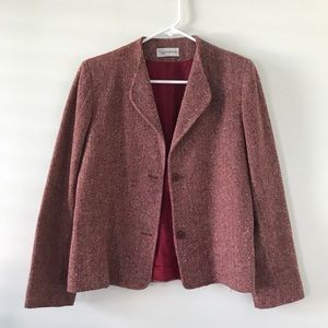 70's Red Cropped Blazer by Evan Picone to fit Sz 6